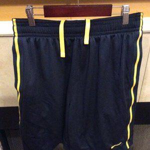NIKE Dri Fit Men's L Large Shorts Navy Blue
